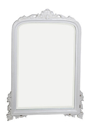 Oval Carved Mirror Bevelled Mirror