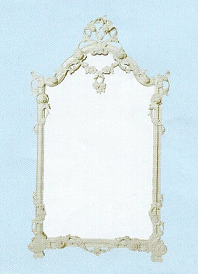 Rose Mirror Frame with Bevelled Mirror