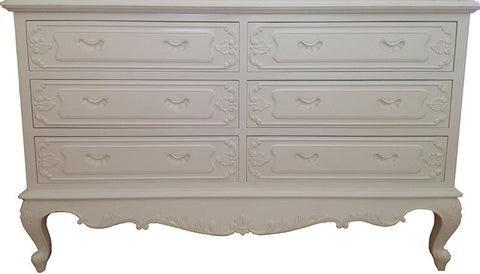 Serpentine French Chest of 6 Drawers