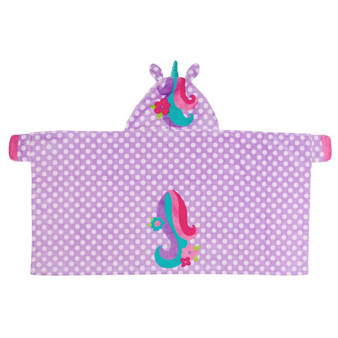 Kids Beach Towel with Hood Unicorn - Stephen Joseph