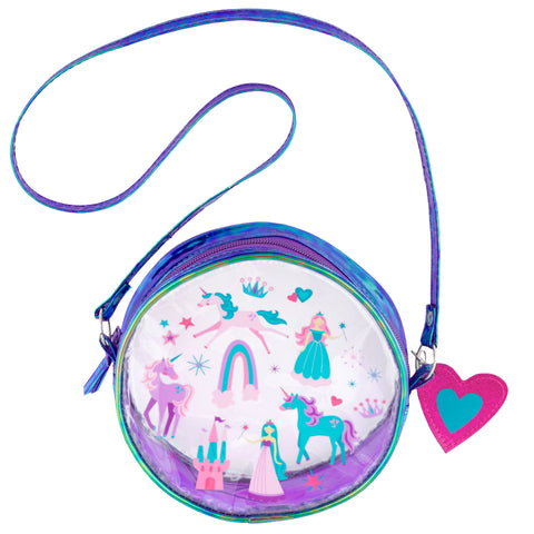 Kids Crossbody Purse Princess Castle Clear - Stephen Joseph