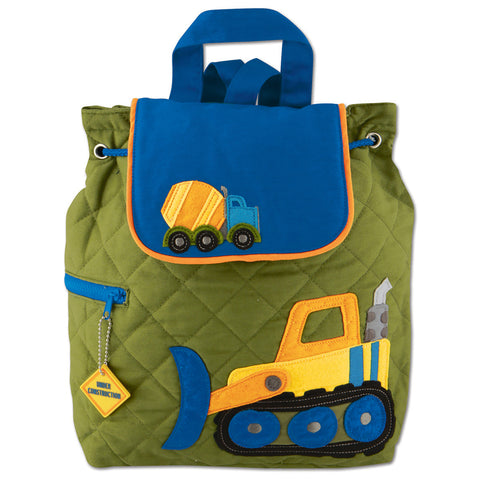 Toddler Backpack Construction Quilted - Stephen Joseph