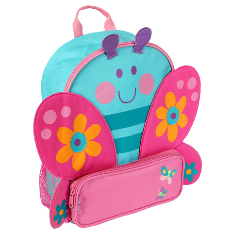 Kids Backpack - Butterfly Blue Sidekick - Stephen Joseph