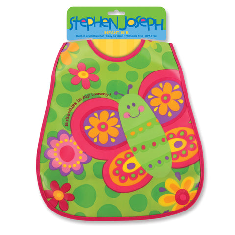 Stephen Joseph Kids Butterfly Wipeable Bib