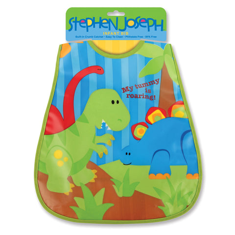 Stephen Joseph Kids Dino Wipeable Bib