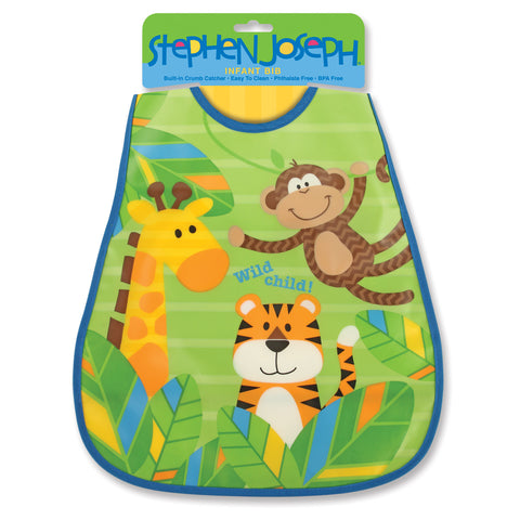 Stephen Joseph Kids Monkey Wipeable Bib
