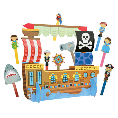 Pirate Puppet Craft and Play Set