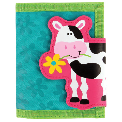 Stephen Joseph Kids Farm Girl Cow Wallet