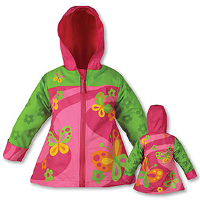 Stephen Joseph Kids Butterfly Raincoat Size 3