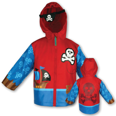 Stephen Joseph Kids Pirate Raincoat Size 4/5