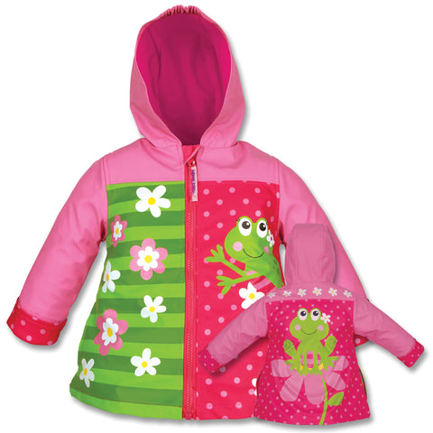 Stephen Joseph Kids Frog Girl Raincoat Size 4/5