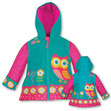 Stephen Joseph Kids Owl Raincoat Size 5/6