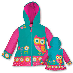 Stephen Joseph Kids Owl Raincoat Size 3