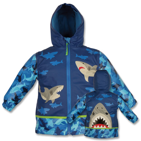 Stephen Joseph Kids Shark Raincoat Size 2