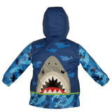 Stephen Joseph Kids Shark Raincoat Size 4/5