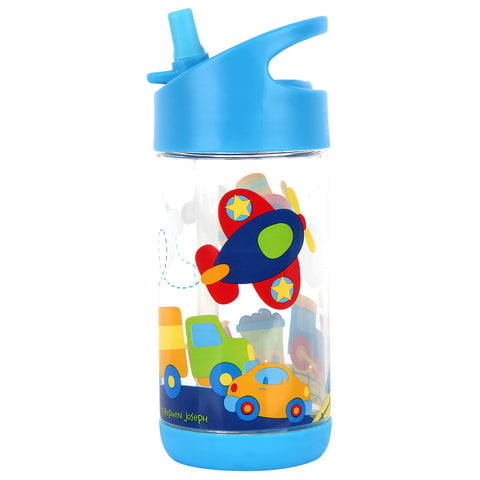 Stephen Joseph Kids Transportation Flip Top Bottle