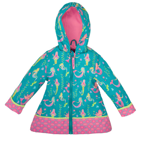 Stephen Joseph Kids Mermaid Raincoat Size 4/5
