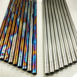 "Titanium Cocktail Swizzle-Straws - 11.5"" Long, Lifetime Reusable (2-Pack)"