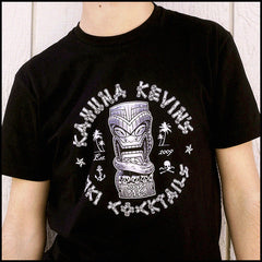 Kahuna Kevin's Tiki Cocktails Unisex Stylish Tiki Logo Shirt for Men and Women