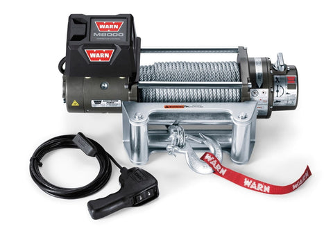 Image of Warn M8000 12V Recovery Winch 30m Wire Rope // 24m Synthetic Rope