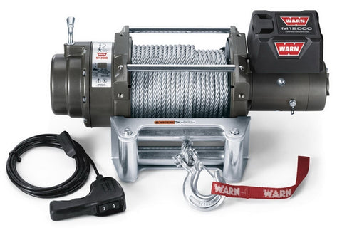 Image of Warn 12v self recovery winch 38m wire rope, cem12000-87801