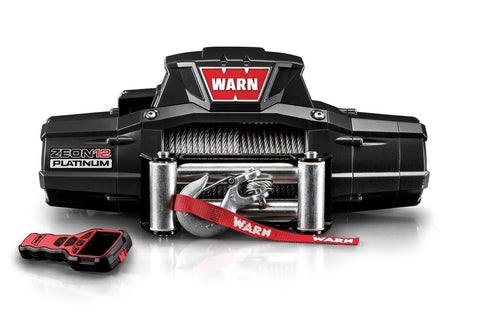 Image of Warn zeon platinum 12v winch 24m wire rope, zeon-pl-12k-93685