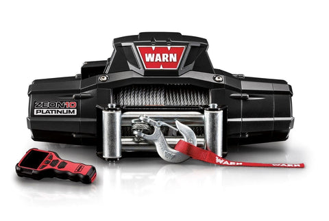 Image of Warn zeon platinum 12v winch 24m wire rope, zeon-pl-10k-92815
