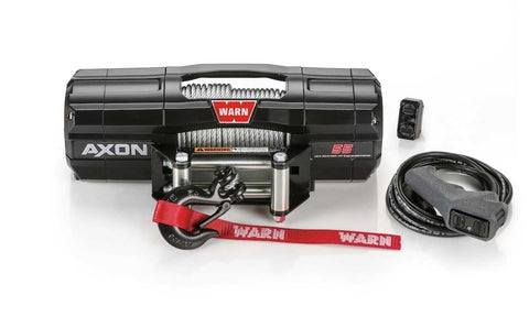 Warn 12V AXON 55S Winch  15m Synthetic Rope