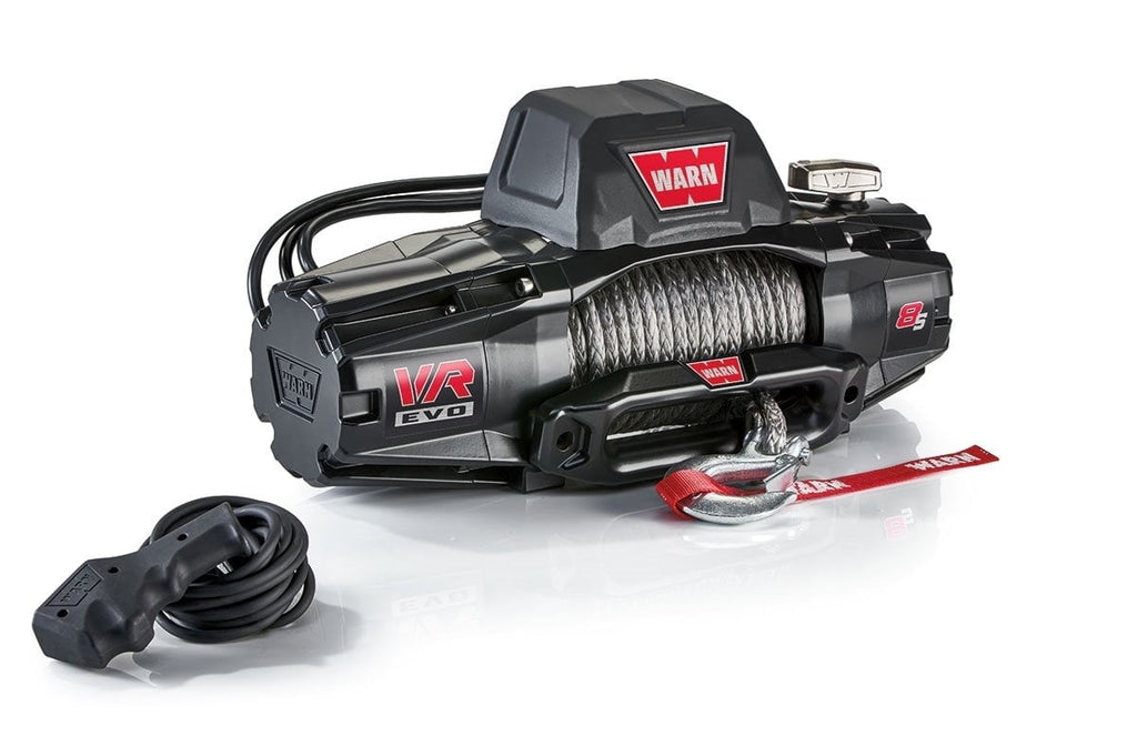 Warn EVO 8-S 12V Recovery Winch 27m Synthetic Rope w/ 2in1 Wireless Remote