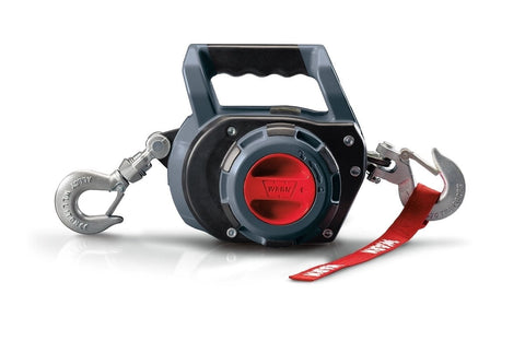 Image of Warn drill powered portable winch 12.2m wire rope, 750lbs, 101570
