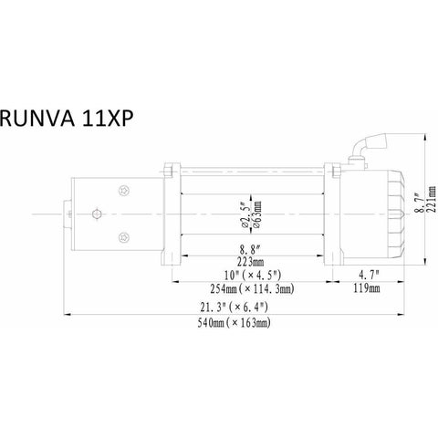 Runva 11XP 12V with Steel Cable