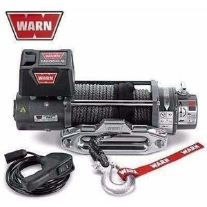 Warn 12v self recovery winch 24m synthetic rope, cem8000-88552