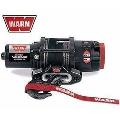 Warn 12v atv winch 15m synthetic rope w/ wireless rmote, pv2500-s-91026