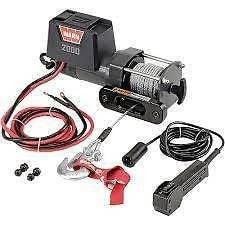 Image of Warn 12v utility winch 10.7m wire rope, dc2000-92000