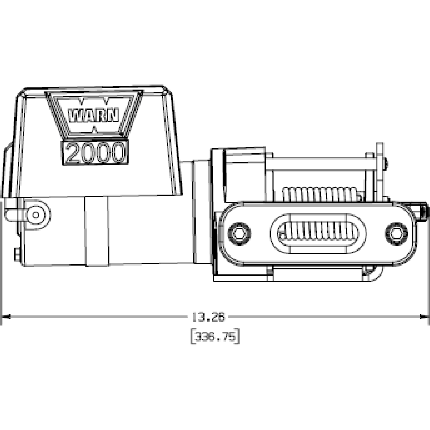 92000 Warn Winch DC 2000 UTILITY