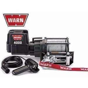 Warn 12v utility winch 13.0m wire rope, dc4000-94000