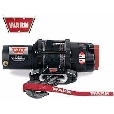 Warn 12v atv winch 15m synthetic rope w/ wireless rmote, pv3500-s-91036