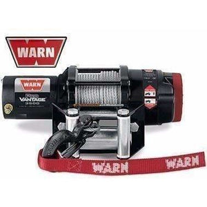 Warn 12v atv winch 15m wire rope w/ wireless rmote, pv3500-91035