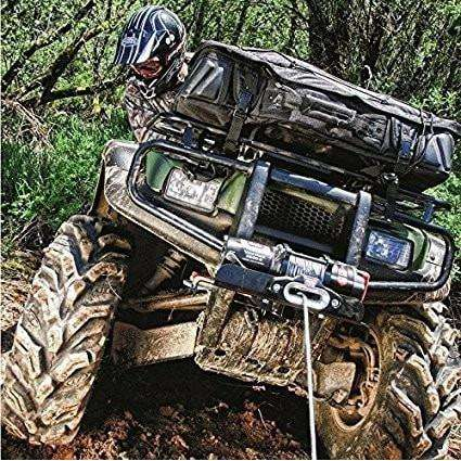 Warn 12v atv winch 15m wire rope w/ wireless rmote, pv2500-91025