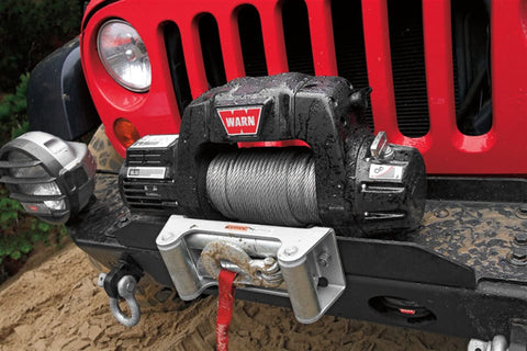 Image of Warn 12v thermometric winch 30m wire. Rope w/ wireless remote, 9500cti-97550