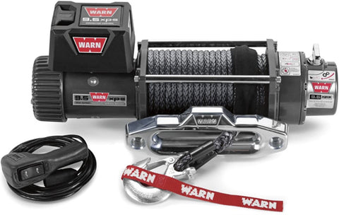 Warn 9500XP-S 12V Recovery Winch 24m Synthetic Rope w/ Wireless Remote