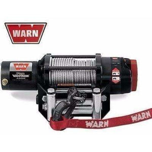 Warn 12v atv winch 17m wire rope, pv4500-90450