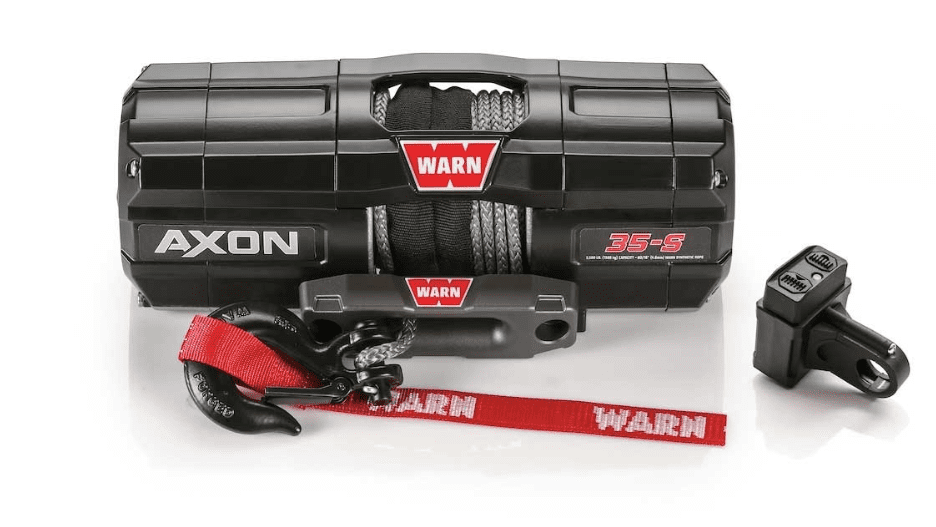 Warn AXON 35-S ATV Winch - 15m Synthetic Rope