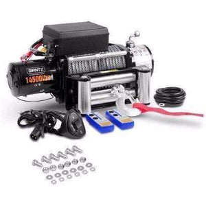 Giantz 12V 14500lbs Winch Car-Winch-14500-Kit