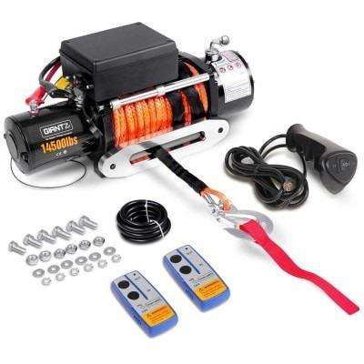 Giantz 12V 14500lbs Winch Car-Winch-14500-Sr-Set