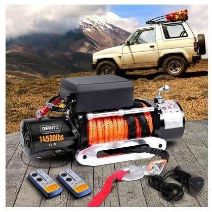 Giantz 12V 14500lbs Winch Car-Winch-14500-Sr-Set +  wireless remote control which covers a 15-30m distance