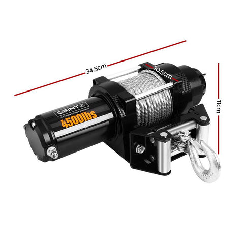 Image of 4500LBS Electric Winch ATV 4WD Steel Wire with wireless remote - Winchworld