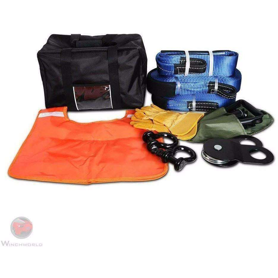 Giantz 11 piece Recovery kit and Bag, CAR-WINCH-RCKIT - Winchworld