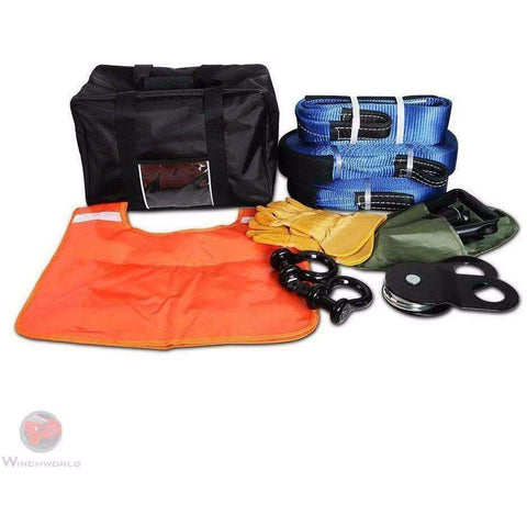 Image of Giantz 11 piece Recovery kit and Bag, CAR-WINCH-RCKIT - Winchworld