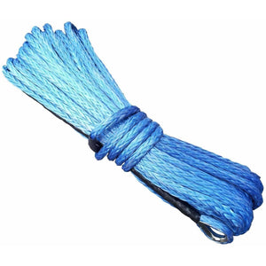 Synthetic Winch Rope - 40M x 10MM (BLUE)
